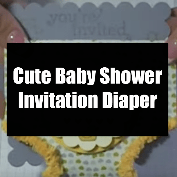 Cute Baby Shower Invitation Diaper