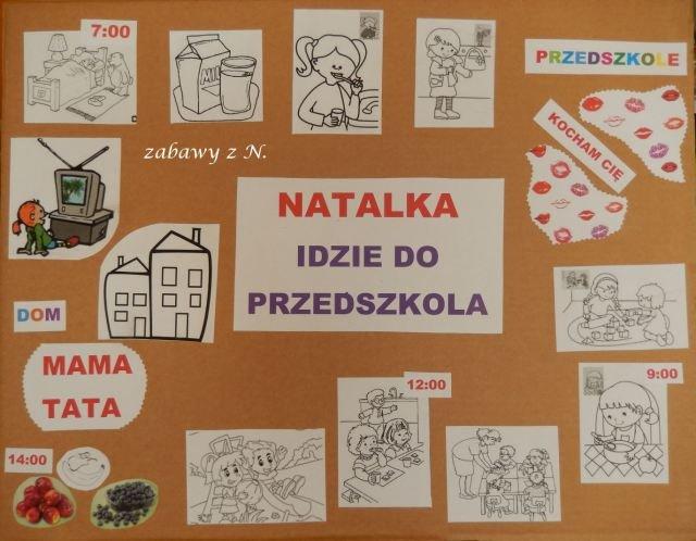 """plansza przyszłego przedszkolaka - więcej o planszy na moim blogu """"Zabawy z N."""""""