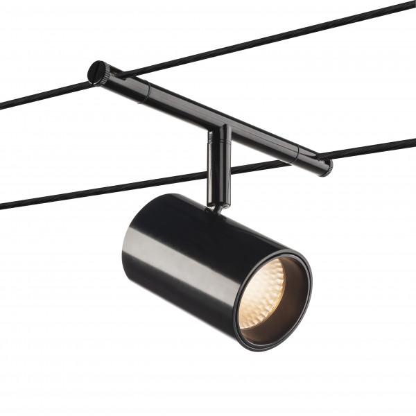noblo spot spot pour cable tendu t b t interieur noir led 8 5w 2700k