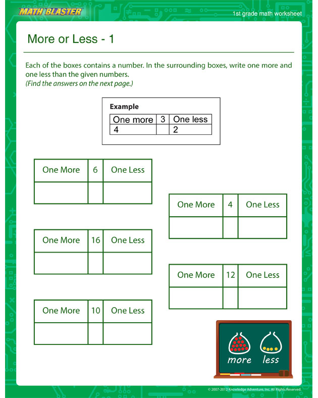 free printable worksheets | The Math Blaster Blog | Page 7