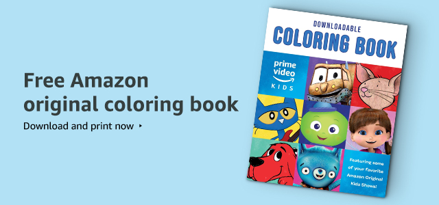 FREE Amazon original kids shows coloring book
