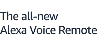 Alexa Voice Remote