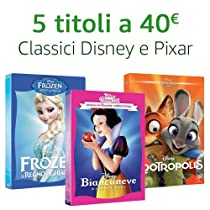 Offerta Classici Disney e Pixar: 5 titoli = 24 €