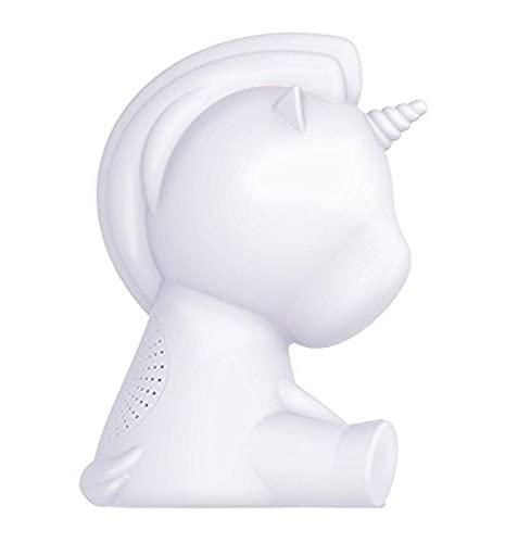BigBen Sound BTLSUNICORN - Altavoz Wireless Luminoso Unicornio portátil (15 W, Puerto USB, Jack 3.5 mm, Bluetooth, Distintos Colores y Efectos Luminosos) Color Blanco