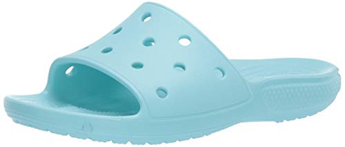 Crocs Classic Slide, Sandali a Punta Aperta Unisex-Adulto, Ice Blue, 38/39 EU