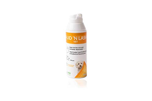 I-LID 'N LASH Vet Pump Ocular Hygiene Cleanser: Prevents Tear Stains, Eliminates Facial Fold Odors, Contains Hyaluronic Acid, Simple Daily Application, No Antibiotics or Harmful Chemicals, 50 ml Pump