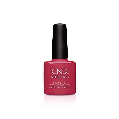 CND Shellac Gel Nail Polish, Long-lasting NailPaint Color with Curve-hugging Brush, Red/Burgundy Polish, 0.25 fl oz