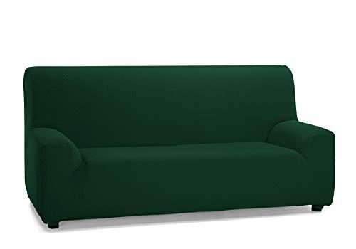 Martina Home Tunez Custodia di divano 1 posto 70-110 cm Verde bottiglia, tela