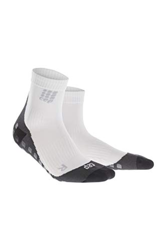 (II, White) - CEP Women's Griptech Short Socks Athletic Performance, Compression, Team Sports Such as Basketball, Football, Soccer Team Sports, Ankle Socks
