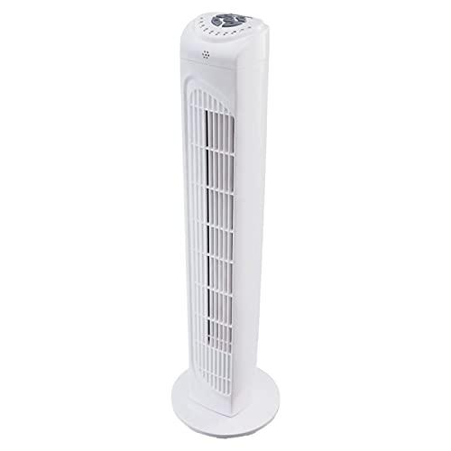 Ventilateur tour MEDION avec télécommande (3 niveaux de vitesse silencieux, puissance 45 watts, minuterie, fonction pivotante commutable - oscillation, MD10319) blanc