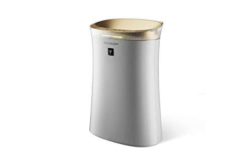 Sharp UA-PG50E-W Luftreiniger mit Plasmacluster-Ion-Technologie, drei Filterstufen: Vorfilter, Geruchsfilter und HEPA-Filter, sehr leise 23 dB, bis zu 38 m²