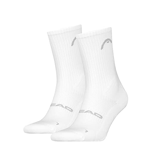 Head Match Crew Socks (2 Pack) Calzini, White, 43/46 Unisex-Adulto