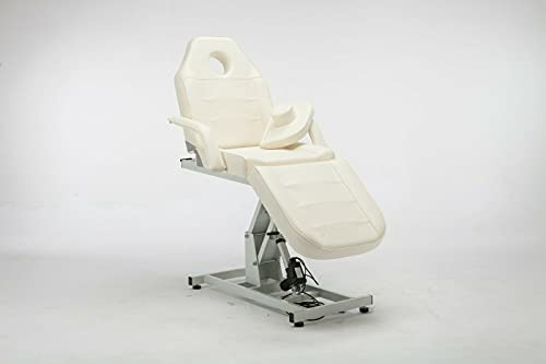 Lovpear Electric Adjustable Facial Table and Lash Extensions Bed for Massage Salon Spa Tattoo Equipment (White)