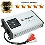 Gravity GBR250.2DM True 300-Watt RMS Micro Ultra Compact Digital 2-Channel Full Range Amplifier with RCA Stereo input - IPX65 Waterproof - Perfect for Motorcycle, RV, ATV, Car, Boat, Marine