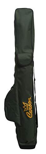 Carson - Fodero Porta Canne da Pesca Deluxe MF-3000/1 con Tasche da 160cm Contiene 4-5 Canne Bolognesi o 10 Canne Fisse Fondo Antisfondamento 2 Tasche Porta Picchetti e Accessori Materiale Resistente