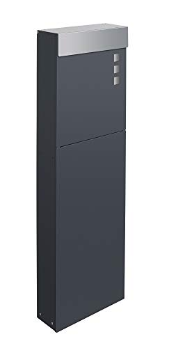 Frabox® Standbriefkasten NAMUR anthrazitgrau RAL 7016 & Edelstahl - Qualität Made in Germany!
