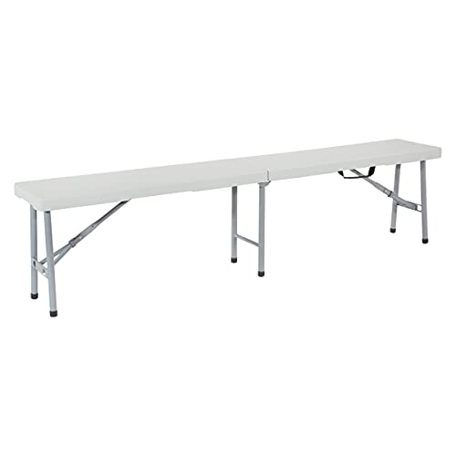 Office Star outdoor bench, 6', White