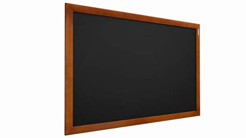 ALLboards - Lavagna da Gesso Nera con Cornice in Legno | 90x60 cm | Perfetta per Bar, Ristoranti,...