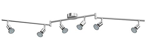 Reteck LED Deckenleuchte, 6 Flammig inkl. 6 x 3.5W GU10 LED Lampen, 380LM, Warmweiß, Schwenkbar, Nicht Dimmbar, LED Deckenlampe, LED Deckenspot, Deckenstrahler