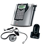 Uniden TRUc56 2.4 GHz DSS Mini Cordless Headset Phone with Caller ID (Silver/Black)