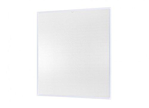 empasa Insektenschutz-Fenster Basic 100 x 120 cm in Weiß, Braun oder Anthrazit als Bausatz auf Maß geschnitten oder komplett aufgebaut, Fliegengitter mit Alurahmen und hochwertigem Gewebe in Schwarz