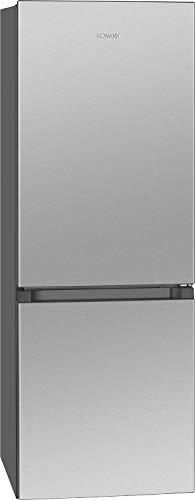 Bomann KG 320.2 - Frigorifero/congelatore / 122 l raffreddamento, 43 l, sbrinamento automatico / 160 kWh/effetto acciaio INOX