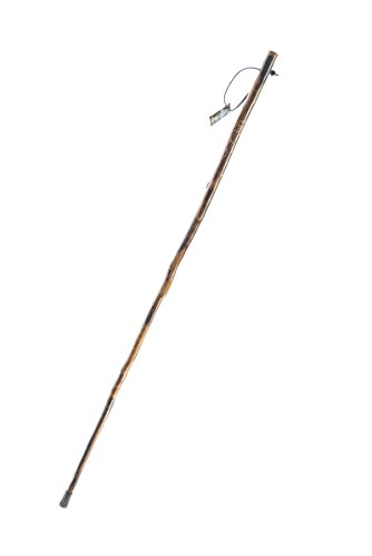 SE Wooden Walking/Hiking Stick with Hand-Carved Flower Design, 50' - WS627-50