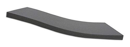 Dibapur ® Black: Orthopädische Kaltschaummatratze/Akustikschaumstoff - H2 - (90x200x5 cm) Ohne Bezug - Made in Germany