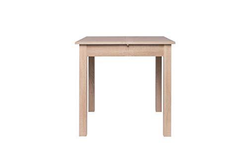 AVANTI TRENDSTORE - Colima - Tavolo da Pranzo, allungabile per 40 cm, in Legno Laminato, Disponibile in 2 Diversi Colori ed in 4 Diverse Misure (80-120x76,5x80 cm, Marrone)