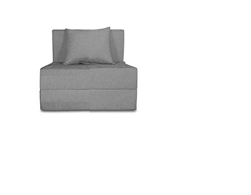 Comfort Store Poly Cotton Sofa/Bed/Lounger with Fabric Washable Cover with 1 Soft Cushion (Grey, 3x6 ft)