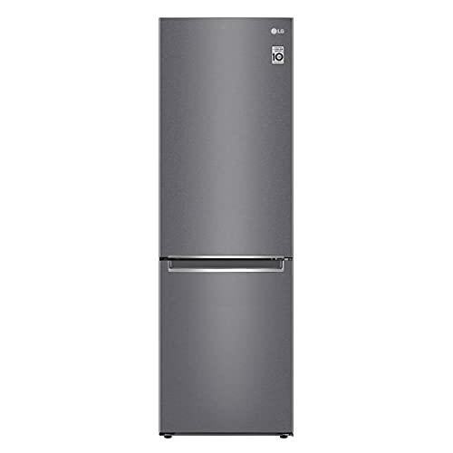 LG GBP61DSPFN Frigorifero Combinato Total No Frost con Congelatore, 341 L, 36 dB - Frigo con Freezer, Tecnologia FRESH Converter, Display LED Interno, Inox