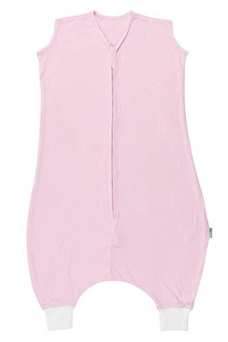 Slumbersac - Sacco a pelo estivo con piedini in mussola di bamb, sfoderato, disponibile in diversi motivi, per bambini e bambine rosa Rosa 24-36 mesi