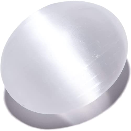 KALIFANO Selenite Palm Stone with Healing & Calming Effects...