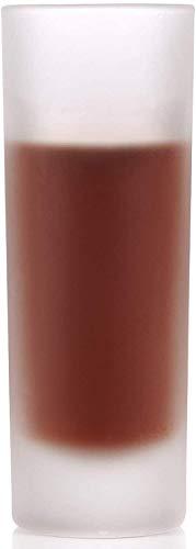 Star - Bicchierini da liquore Line, 4 cl, opachi smerigliati, 12 pezzi, vetro spesso senza graduazione