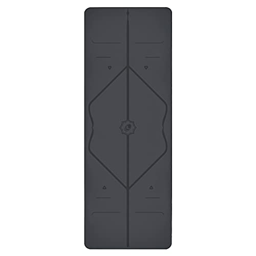Liforme Original Yoga Mat – Patented Alignment System, Warrior-like Grip, Non-slip, Eco-friendly and Biodegradable, sweat-resistant, 4.2mm thick mat for comfort - Grey