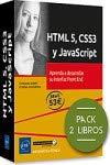 HTML 5, CSS3 y JavaScript - Pack de 2 libros: Aprenda a desarrollar su interfaz Front End