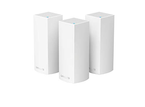 Linksys Velop Mesh Router (Tri-Band Home Mesh WiFi System for Whole-Home WiFi Mesh Network) 3-Pack, White
