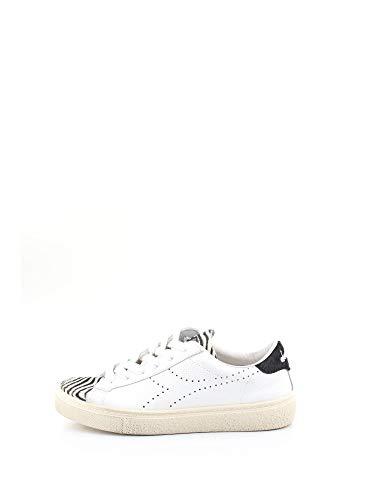 Diadora Heritage Montecarlo H Cavallino Wax W Sneaker Donna, Bianco/Nero 40.5