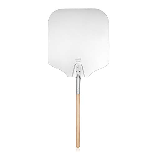 Aluminum Pizza Peel, Wooden Handle