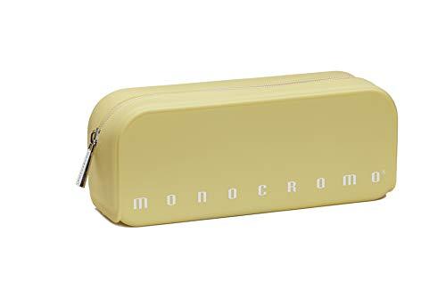 Pigna Monocromo, Astuccio, Portapenne formato Bustina in Silicone, Giallo Pastel