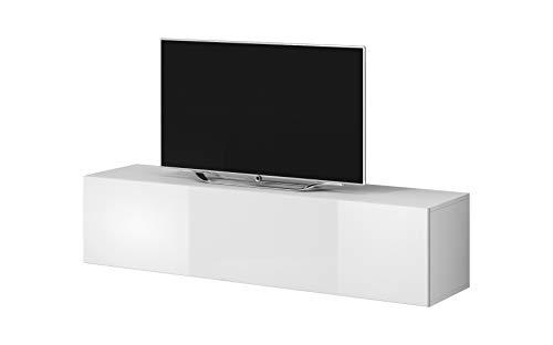 E-Com - Mobile TV Rocco, 160 cm, Colore: Bianco
