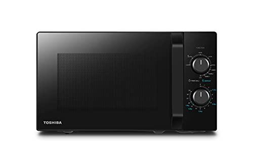 Toshiba Four à Micro-ondes avec Fonction Grill Croustillant et Cuisson Combinée, 5 Niveaux de Puissance, Puissance de Grill 1000 W, 20 L - Noir - MW2-MG20PF (BK) / GE