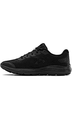 Under Armour mens Surge 2 Running Shoe, Black (002 Black, 10.5 US
