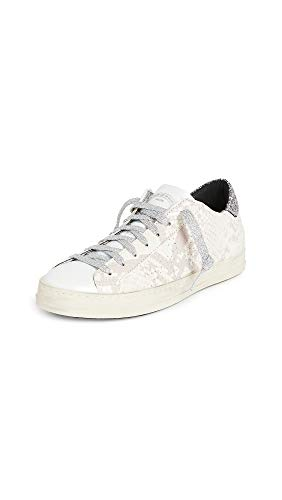 21i4VUEFAYL Leather: Snake-embossed calfskin Rubber sole Contrast glitter collar, Additional laces included, French terry lining