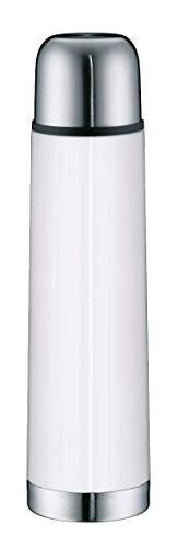 alfi 5457.211.075 Isolierflasche IsoTherm Eco, Edelstahl Alpinweiß, 0,75 Liter, Drehverschluss, 12 Stunden heiß, 24 Stunden kalt, BPA-Free