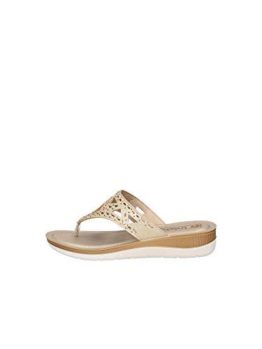inblu Ciabatta Infradito Donna BV-15, Sabbia, Pantofole Woman Mare Piscina (Numeric_38)