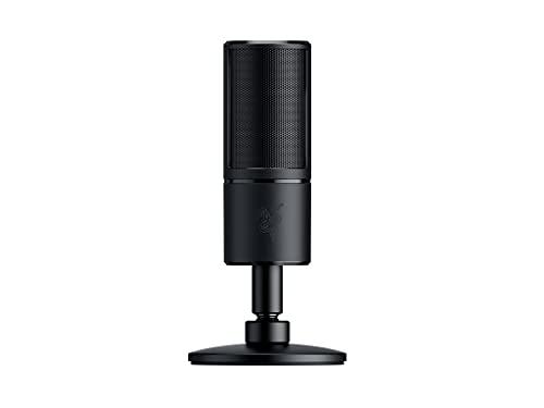 Razer Seiren X - Microphone USB de Diffusion Electrostatique Microphone Streaming avec Mode de Captation Ultra Précis & Résistant aux Chocs