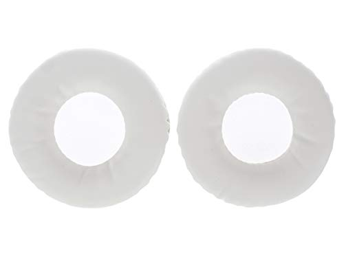 WEWOM 2 Cuscinetti di ricambio per auricolari Sony MDR V55, V500 BR / DJ, bianco