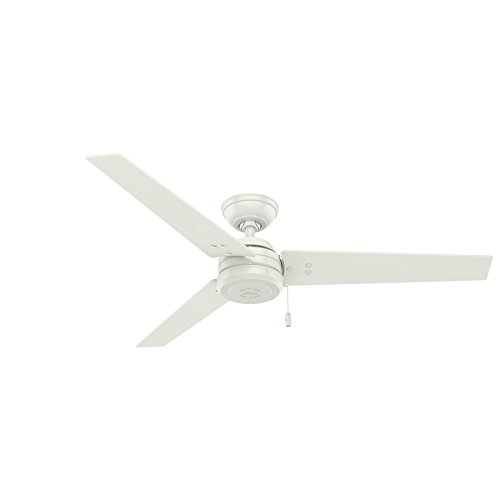 Hunter Cassius Indoor / Outdoor Ceiling Fan with Pull Chain Control, 52', Fresh White