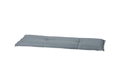 Madison 8 cm 2-Sitzer Bankauflage A 046 ca. 120x48x8 cm, Uni grau